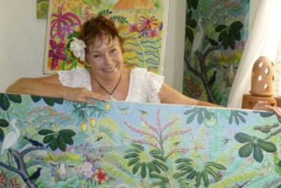 Julie Lee and her Paintings