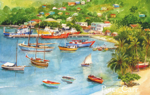 Peter Carr Bequia Painting